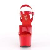 Röda högklackade skor 18 cm SKY-308N JELLY-LIKE stretchmaterial högklackade platåskor