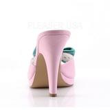 Rosa 10 cm SIREN-03 Pinup mules skor med fluga