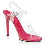 Rosa 11,5 cm FABULICIOUS GALA-08 Höga fest sandaler med klack