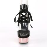 Rosa 15 cm DELIGHT-600-14 pleaser platåsandaletter för kvinnor