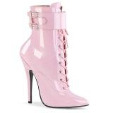 Rosa 15 cm DOMINA-1023 stiletto ankle boots med höga klackar