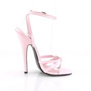 Rosa 15 cm DOMINA-108 fetish sandaler med stilettklack