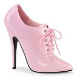 Rosa 15 cm DOMINA-460 oxford skor med höga klackar
