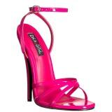 Rosa 15 cm Devious DOMINA-108 högklackade sandaletter