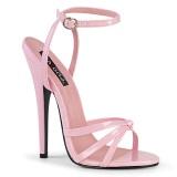 Rosa 15 cm Devious DOMINA-108 h�gklackade sandaletter