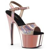 Rosa 18 cm ADORE-709HGCH Hologram platå klackar skor