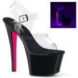 Rosa 18 cm SKY-308TT Neon platå klackar skor