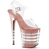 Rosa 20 cm FLAMINGO-808CHLN Högklackade sandaler krom platå