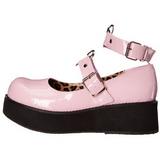 Rosa 6 cm SPRITE-02 lolita skor goth platåskor med tjock sula