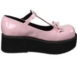 Rosa 6 cm SPRITE-03 lolita skor goth platåskor med tjock sula