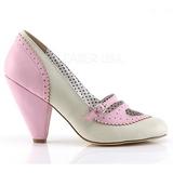 Rosa 9,5 cm POPPY-18 Pinup pumps skor med låg klack