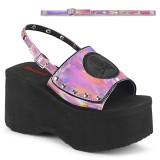 Rosa 9 cm Demonia FUNN-32 lolita sandaler med plat�