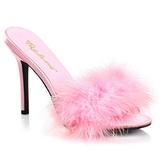 Rosa Fjädrar 10 cm CLASSIQUE-01F Höga Slip in Skor för Män
