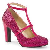 Rosa Glitter 10 cm QUEEN-01 stora storlekar pumps skor