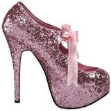 Rosa Glitter 14,5 cm Burlesque TEEZE-10G Platform Pumps Skor
