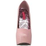 Rosa Glitter 14,5 cm Burlesque TEEZE-31G Platform Pumps Skor