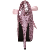 Rosa Glitter 14,5 cm TEEZE-10G Platform Pumps Skor