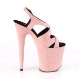 Rosa Konstläder 20 cm FLAMINGO-831FS högklackade sandaletter