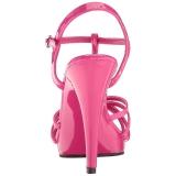 Rosa Lackerade 12 cm FLAIR-420 Höga Klackar Skor för Män