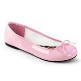 Rosa Lackläder ANNA-01 stora storlekar ballerina skor