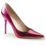 Rosa Metallisk 10 cm CLASSIQUE-20 stora storlekar stilettos skor