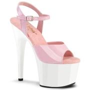 Rosa platå 18 cm ADORE-709 pleaser high heels skor