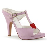 Rose 10 cm retro vintage SIREN-09 Women Mules Shoes