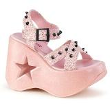 Rose 13 cm Demonia DYNAMITE-02 lolita sandals wedge sandals