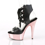 Rose 15 cm DELIGHT-600-14 platform pleaser sandals