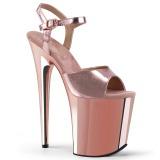 Rose 20 cm FLAMINGO-809 High Heels Chrome Platform