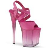 Rose 20 cm FLAMINGO-822T Platform High Heels Shoes