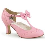 Rose 7,5 cm retro vintage FLAPPER-11 Pinup Pumps Shoes with Low Heels
