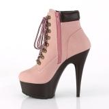 Rose Faux Suede 15 cm DELIGHT-600TL-02 pleaser ankle boots platform