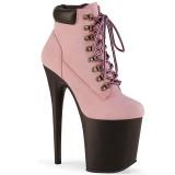Rose Faux Suede 20 cm FLAMINGO-800TL pleaser ankle boots platform
