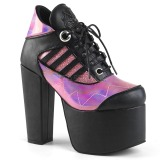 Rose Hologram 14 cm TORMENT-216 lolita ankle boots platform