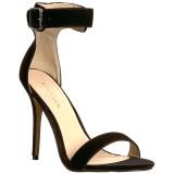 Sammet 13 cm Pleaser AMUSE-10 högklackade sandaletter