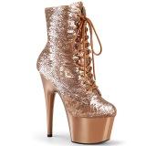 Sequins Gold 18 cm ADORE-1020SQ Exotic pole dance ankle boots