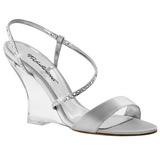Silver 10,5 cm LOVELY-417 Wedge Sandaletter med Kilklack