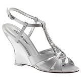 Silver 10,5 cm LOVELY-420 Wedge Sandaletter med Kilklack