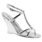 Silver 10,5 cm LOVELY-428 Wedge Sandaletter med Kilklack