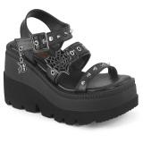 Silver 11,5 cm CELESTE-09 glitter sandaler med blockklack