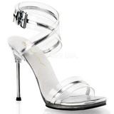 Silver 11,5 cm CHIC-05 Högklackade skor med stilettklack