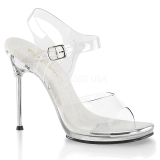 Silver 11,5 cm CHIC-08 High Heeled Stiletto Sandals