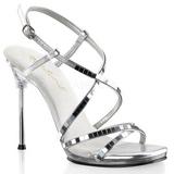 Silver 11,5 cm CHIC-09 Högklackade skor med stilettklack