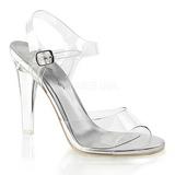Silver 11,5 cm CLEARLY-408 Höga fest sandaler med klack
