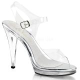 Silver 11,5 cm FLAIR-408 Womens High Heel Sandals