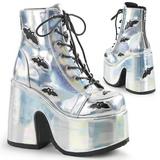 Silver 12,5 cm CAMEL-201 goth lolita stövletter platå