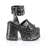 Silver 12,5 cm Demonia CAMEL-102 lolita sandaler med platå