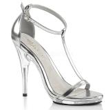 Silver 12,5 cm Fabulicious POISE-526 högklackade sandaletter