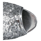 Silver 15 cm DELIGHT-1008SQ dam stövletter med paljetter